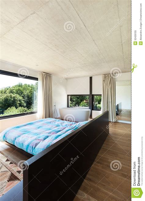 modern villa interior bedroom royalty  stock photo