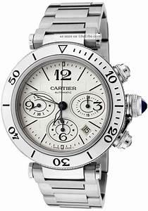 Cartier Pasha W31089m7 Seatimer Herren Uhr 40mm Stahl
