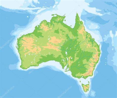 australia physical map stock vector  delpieroo