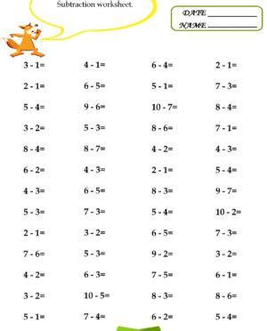 subtraction worksheets math ks spiral all facts v math