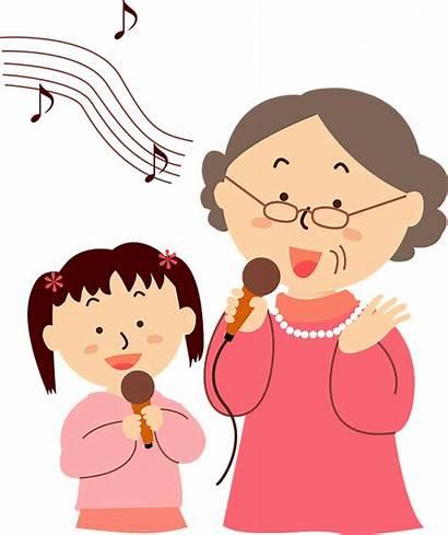 Singing Clipart Grandma Karaoke Transparent Creazilla