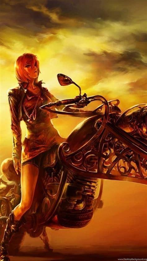 biker girl wallpapers fantasy wallpapers desktop background