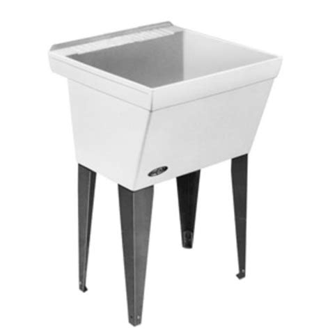 menards stainless utility sink mustee utilatub laundry tub floor at menards 174