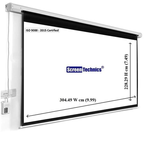 White 8x10 Motorized Projector Screen Rs 11288 /unit