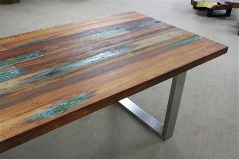tisch holz tisch aus recyceltem holz der tischonkel