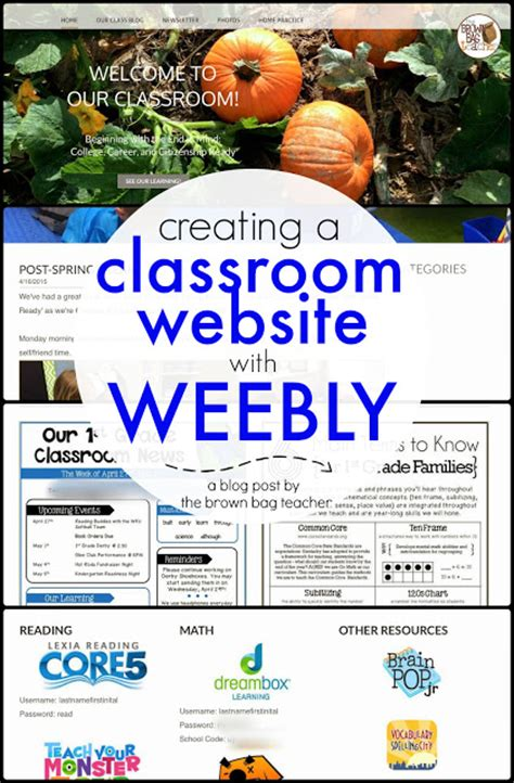 Creating A Website For Free by Creating A Classroom Website Using Weebly The Brown Bag