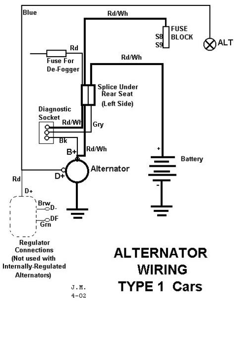 Alternator Wiring Diagram Amps Volts Switch