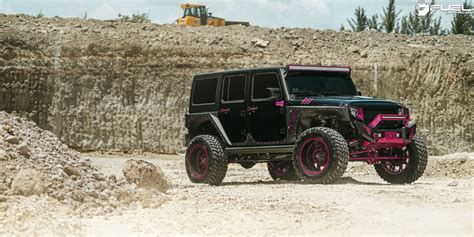 jeep pink matte this jeep wrangler with pink fuel wheels is manly