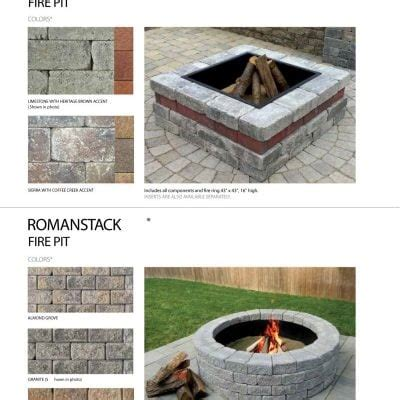 unilock fireplace kits price buy manufactured pavers page 4 of 13 south shore