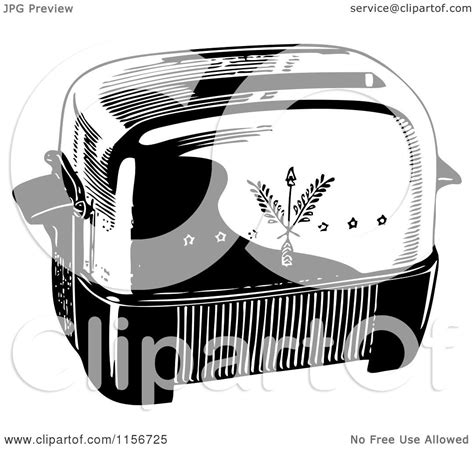 toaster clipart black and white clipart of a black and white retro toaster royalty free