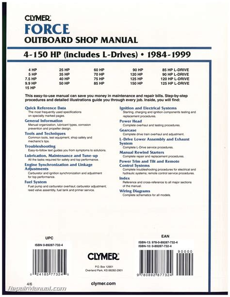 small engine repair manuals free download 1984 mercury lynx seat position control 1984 1999 force 4 150 hp outboard boat engine repair manual b751 4