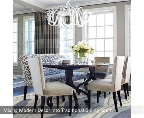 Modern And Traditional Mix For Dining And Living Rooms