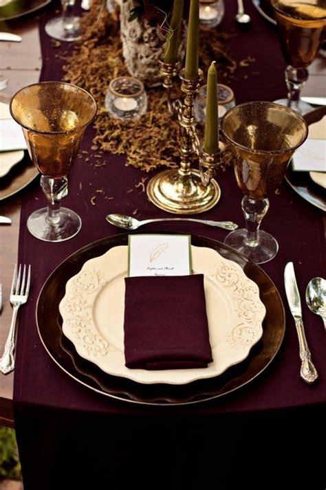 absolutely breathtaking table scape  marsala