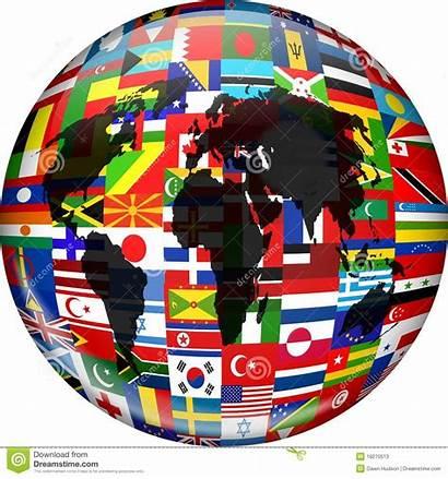 Globe Flag Flags Map Colourful Illustration Dreamstime