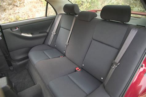 toyota corolla xrs rear seats picture pic image