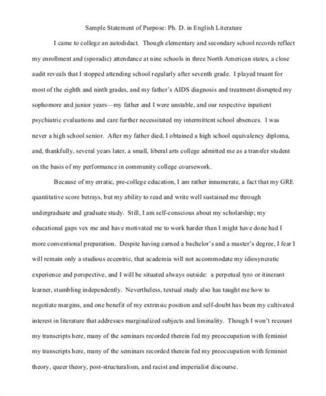 statement of purpose template 10 statement of purpose sles pdf word sle templates