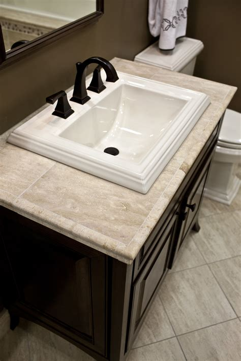 Small Vanity Tops by Travertine Vanity Top Diy Pinthedream I The