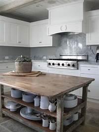 vintage kitchen island 28 Vintage Wooden Kitchen Island Designs - DigsDigs