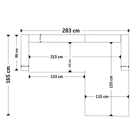 dimension canape angle canapé d 39 angle kanap en tissu noir canapé design