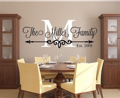 customize family  wall decal personalized family