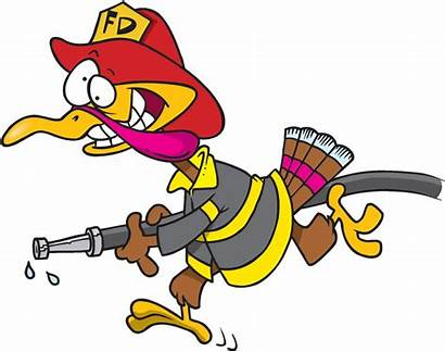 Thanksgiving Turkey Fire Safety Firefighter Happy Tips