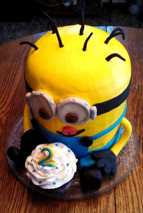 Vanilla minion cake happy birthday blake!. Minion 3D Cake!! - CakeCentral.com