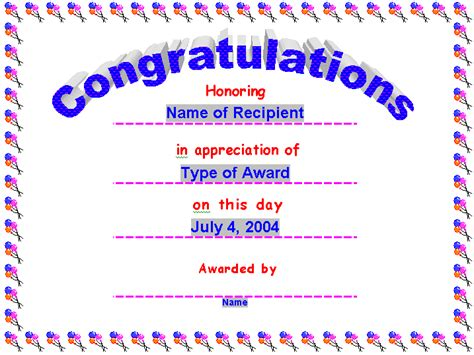 congratulations certificate templates congratulations certificate templatereference letters