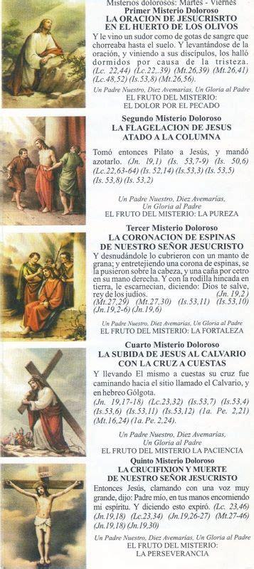 misterios dolorosos santo rosario santo rosario