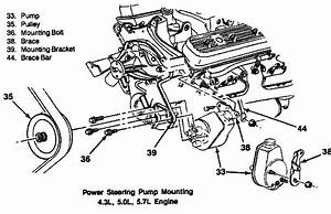 27 Chevy 350 Power Steering Bracket Diagram
