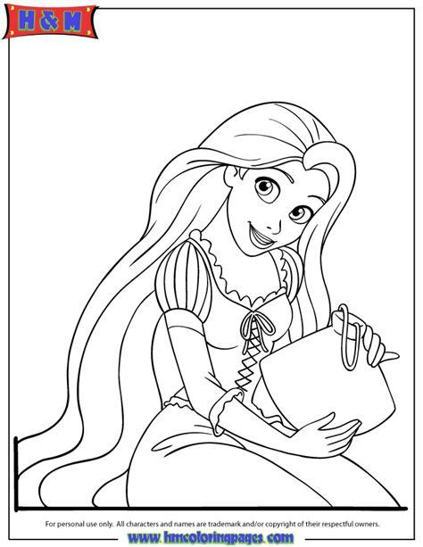 pretty rapunzel coloring page   coloring pages