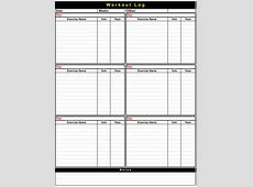 5+ Workout Log Templates to Keep Track your Workout Plan