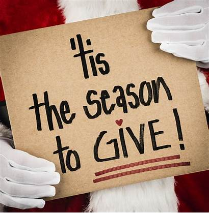 Holiday Giving Give Please Sign Santa Season