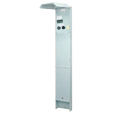 rv electrical pedestal ge rv earth buried pedastal 100 120 240 volt unmetered