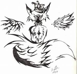 Tribal Fox by Mitsiecake on DeviantArt