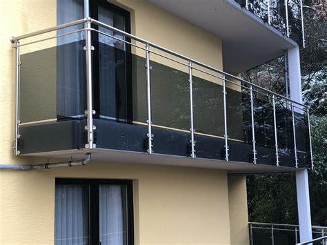 balkongeländer glas edelstahl balkongel 228 nder edelstahl vsg glas balkon gel 228 nder ebay