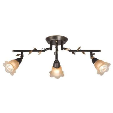 hton bay 3 light 24 in bronze track lighting fixture
