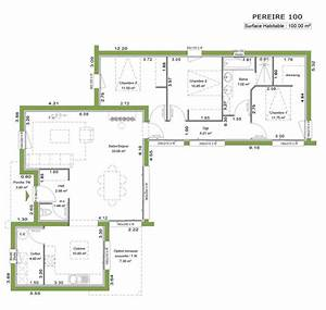 149 best images about maison de plain pied on pinterest With plan maison etage 100m2 16 maison bois kel projet