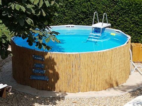 frame pool verkleiden frame pool mit bambusmatten verkleiden geht einfach und sieht viel sch 246 ner aus above ground