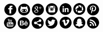 Social Icon Icons Svg Pack Hollow Rounded