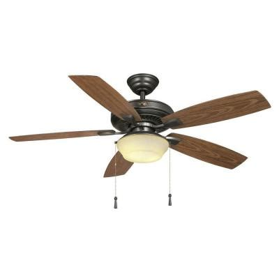 home depot ceiling fans outdoor hton bay gazebo ii 52 in iron indoor outdoor