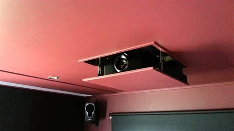 homemade projector lift working youtube