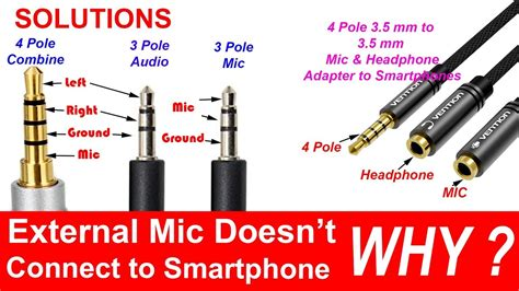 4 pole 3 5 mm to headphone and microphone separator converter adapter