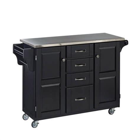 stainless steel kitchen island cart  black