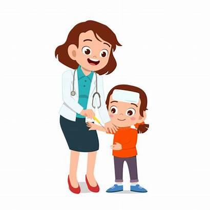 Doctor Kid Vector Children Happy Treatment Clipart
