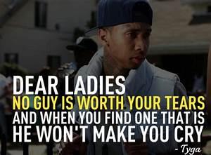 tyga, rapper, good, quotes, women, tears, hurt, sayings