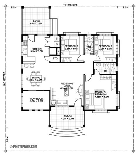 bedroom bungalow house design pinoy eplans