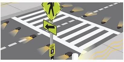 Warning Roadway Crosswalk Lights Smart Crosswalks System