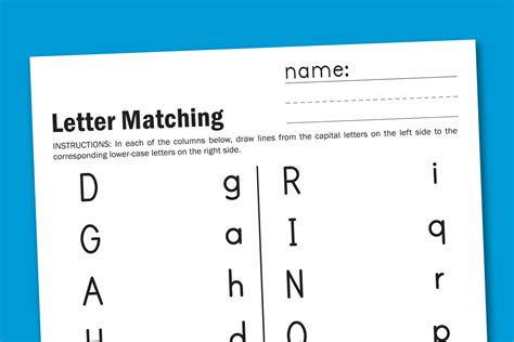 Worksheet Wednesday Letter Matching  Paging Supermom