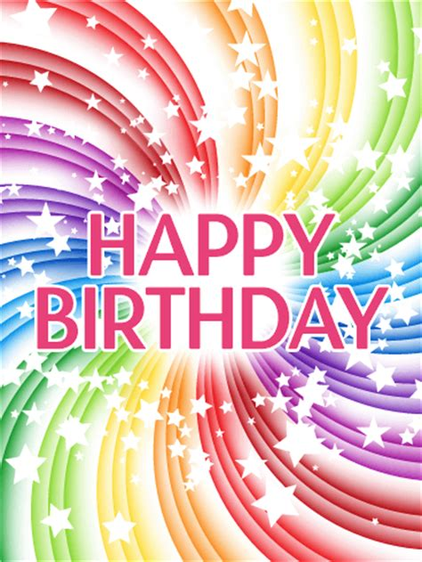 transparent rainbow happy birthday card birthday