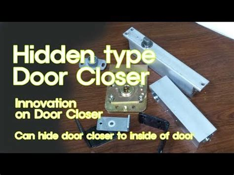 hidden type door closer youtube